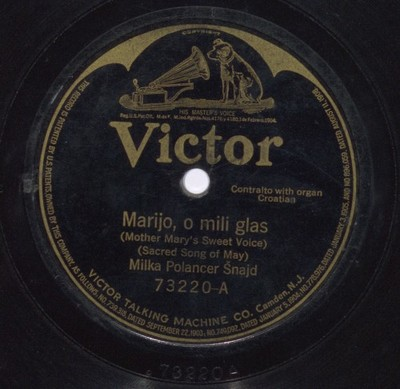Marijo, svibnja kraljice = Mother Mary, Queen of May : sacred song of May. Marijo, o mili glas = Mother Mary's sweet voice : sacred song of May / [pjeva] Milka Polancer Šnajd.