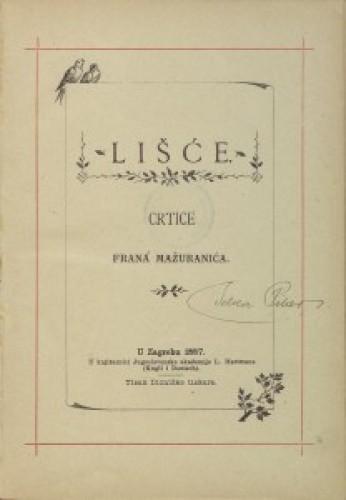 Lišće : crtice Frana Mažuranića