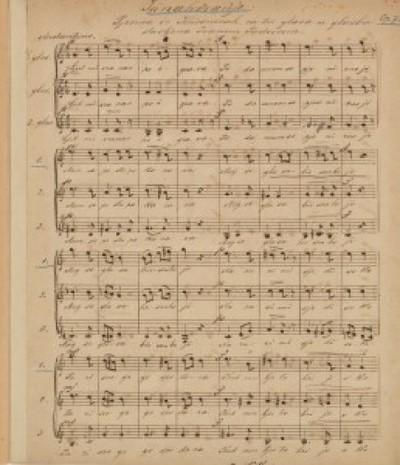 Junakovanje op. 73 : pjesma iz Kriesnicah za tri glasa / u glazbu stavljena Ivanom Padovcem.