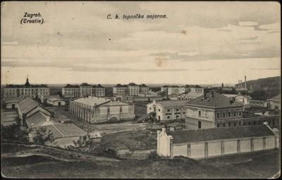 Zagreb (Croatie) : C. k. topnička vojarna.