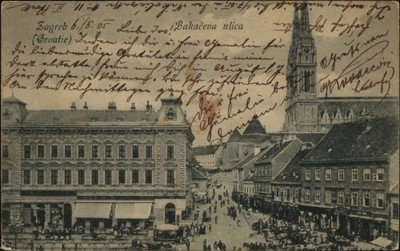 Zagreb (Croatie) : Bakačeva ulica.