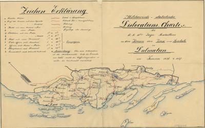 Militairisch - statistische Dislocations - Charte des K. K 10ten - Lager Bataillons in den Kreisen von Zara und Spalato in Dalmatien : im Sommer 1836. & 1837. / Marcovich.