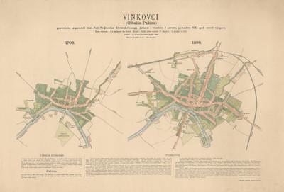 Vinkovci (Cibalis, Palina) : 1798., 1898. : posvećeno uspomeni Mat. Ant. Reljkovića... / izrađeno u Vojno-geografskom zavodu.