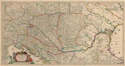 Totius regni Hungariae maximaeque partis Danubii Fluminis, una cum adjacentibus et finitimis regionibus / novissima delineatio Nicolaum Visscher.