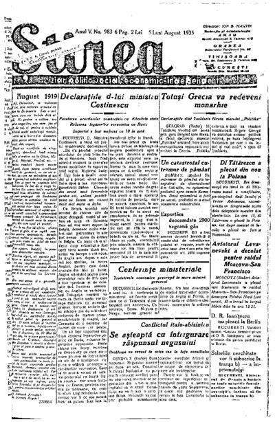 Știrea, Anul V, Nr. 983