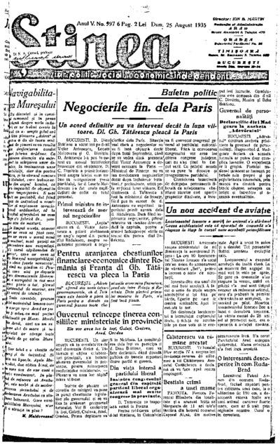 Știrea, Anul V, Nr. 997