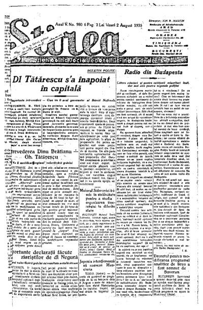 Știrea, Anul V, Nr. 980