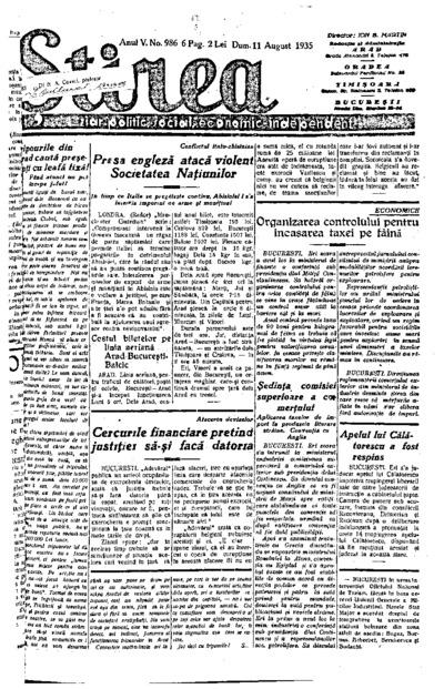 Știrea, Anul V, Nr. 986
