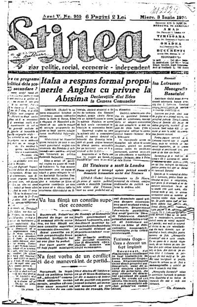 Știrea, Anul V, Nr. 955