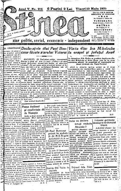 Știrea, Anul V, Nr. 916