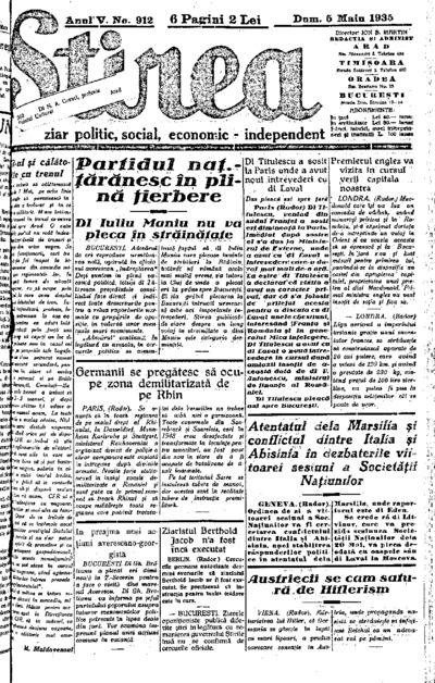 Știrea, Anul V, Nr. 912