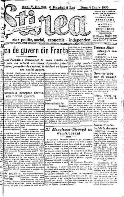Știrea, Anul V, Nr. 934