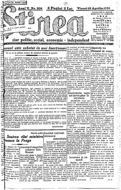 Știrea, Anul V, Nr. 908
