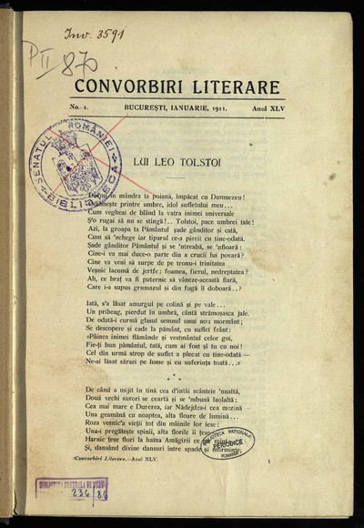 Convorbiri literare. 1911, An 45, nr. 1-12