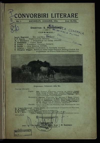 Convorbiri literare. 1914, An 48, nr. 1-5, 7-8, 9-11