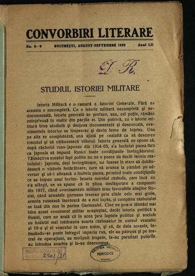 Convorbiri literare. 1920, An 52, nr. 8-9, 10-11, 12