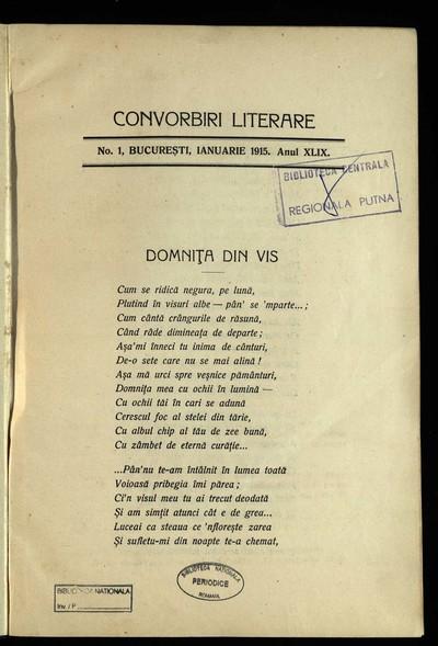 Convorbiri literare. 1915, An 49, nr. 1-12