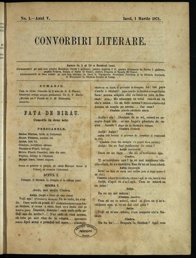 Convorbiri literare. 1871, An 5, nr. 1- 24
