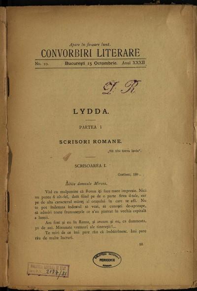 Convorbiri literare.1898, An 32, nr. 10-12
