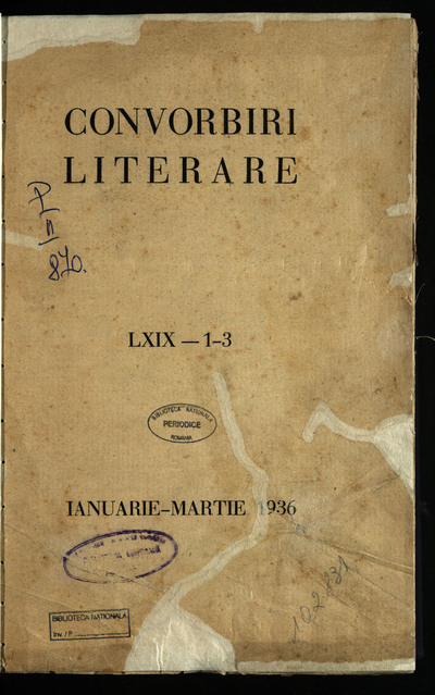 Convorbiri literare. 1936, An 69, nr. 1-12