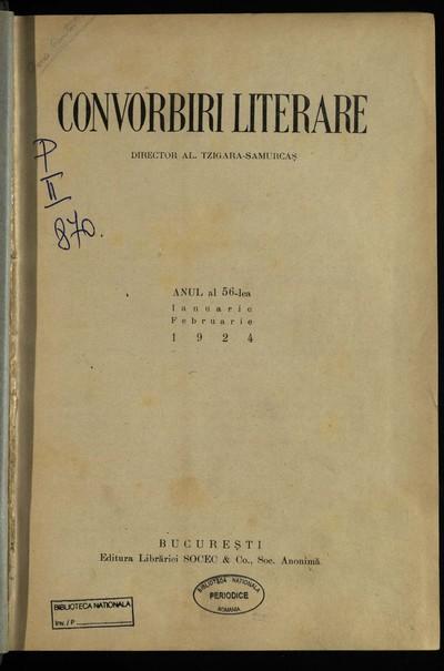 Convorbiri literare. 1924, An 56, nr. 1-12
