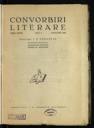 Convorbiri literare. 1940, An 73, nr. 1-12