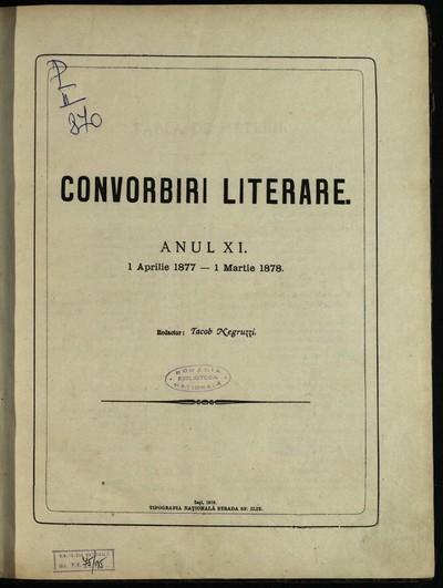 Convorbiri literare. 1877, An nr. 1-12