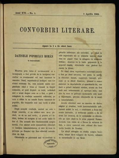 Convorbiri literare. 1882, An 16, nr. 1-12