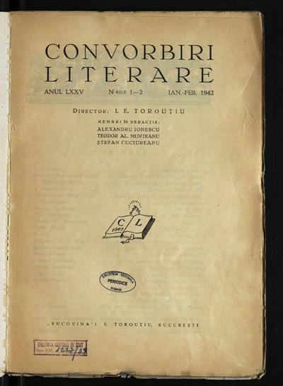 Convorbiri literare. 1942, An 75, nr. 1 - 12