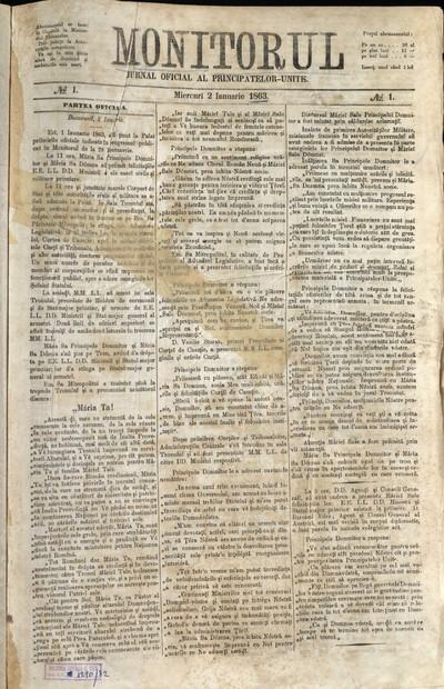 Monitorul. Jurnal Oficial (1863)