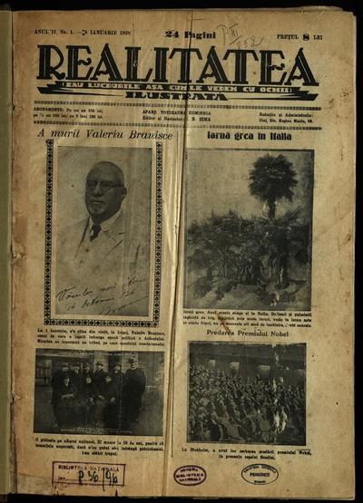 Realitatea ilustrată. 1928, Anul 2, nr. 1-49