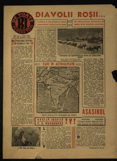 Realitatea ilustrată. 1942, Anul 16, nr. 794, 813, 815, 816-818, 820-827, 829-829