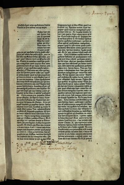 Postilla super Actus apostolorum Additiones