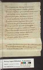 Otfrid: Evangelienbuch (Fragment). [Cod. Guelf. 131.1 Extrav.]