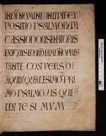 Cassiodor: Psalmenkommentar II. [Cod. Guelf. 24 Weiss.]