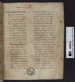 Isidorus Hispalensis: Etymologiae - Palimpsestierte Fragmente darunter Paulus-Briefe gotisch-lateinisch (Codex Karolinus). [Cod. Guelf. 64 Weiss.]