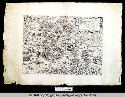 Ware contrafactur bay der leger zu wasser und landt vor Haerlem des Herzog vonn Alba unnd Prinnßen von Oranien, wie wie si zu diser zeit belegert ist, adi to Junny Anno 1573