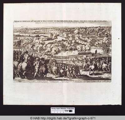 Delineation deß Treffens an dem Lech, welcher gestalt der König in Schweden uber selbiges Wasser kommen und den Hertzogen in Beyern neben dem Graffen von Tilly in die Flucht geschlagen.