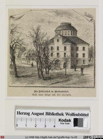 Die Bibliothek in Wolfenbüttel.