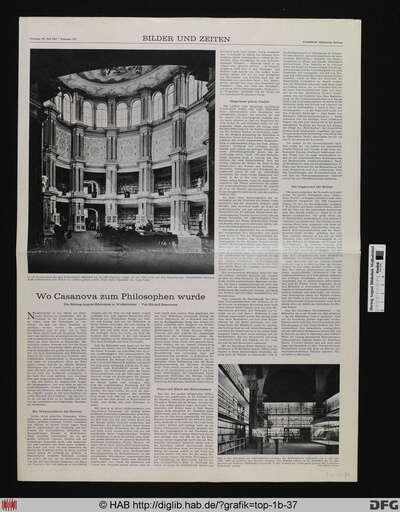 [Zeitungsartikel in der Frankfurter Allgemeinen Zeitung vom 29.7.1967: