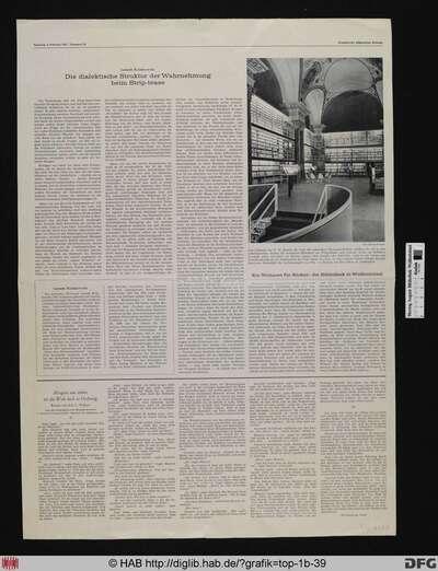 [Zeitungsartikel in der Frankfurter Allgemeinen Zeitung vom 4.2.1967: