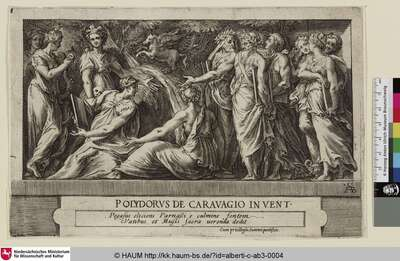 [Die Musen und Dichter auf dem Berg Parnass; Assembly of the Muses and Poets on Mount Parnassus]