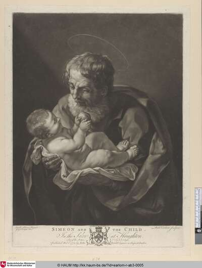 Simeon and the Child [St. Joseph (nicht Simeon) mit dem göttlichen Kinde]