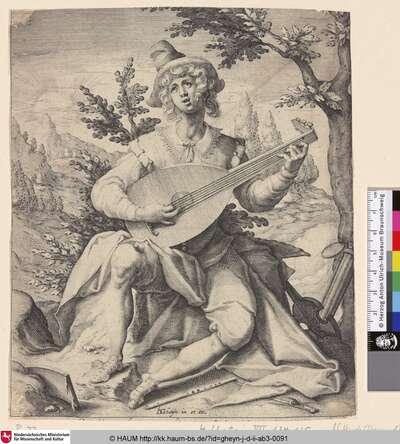 [Der Sanguiniker (Die Erde); Der Citherspieler; Sanguinicus (Earth); Jeune homme en berger]