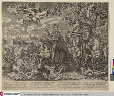 [Allegorie zu Ehren des Stedewingers Frederik Hendrik van Oranje-Nassau anlässlich der Belagerung von 's-Hertogenbosch; Allegory in Honour of Prince Frederik Hendrik of Orange On Occasion of the Siege of Bois-Le_Duc]