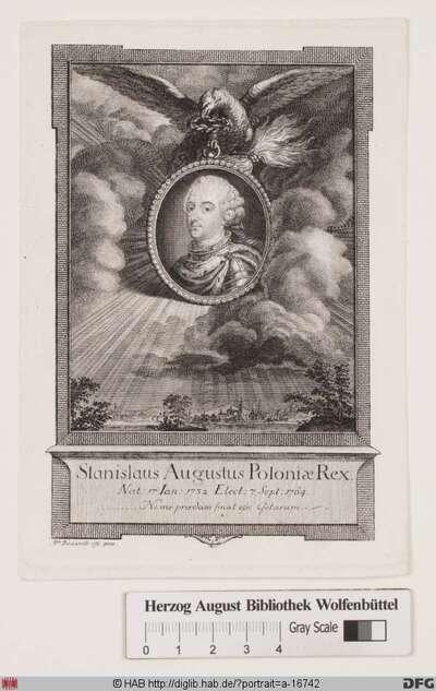 Bildnis Stanislaus II. August (Poniatowski), letzter gewählter König von Polen (reg. 1764-95)