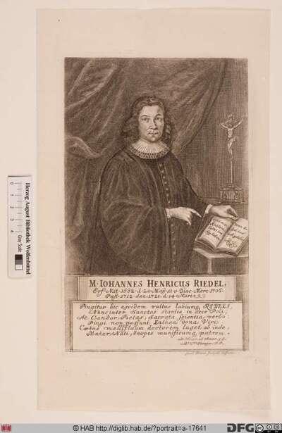 Bildnis Johann Heinrich Riedel (Rüdel)