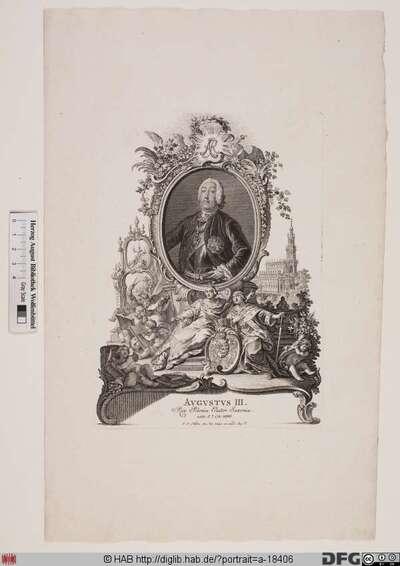 Bildnis Friedrich August II., Kurfürst von Sachsen und (als August III.) König von Polen (reg. 1733-63)