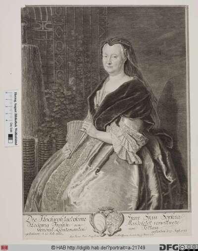 Bildnis Sophie Hedwig von Tettau, geb. Freiin von Mardefeld