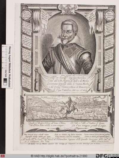 Bildnis Johann Tserclaes Tilly, 1623 Graf von